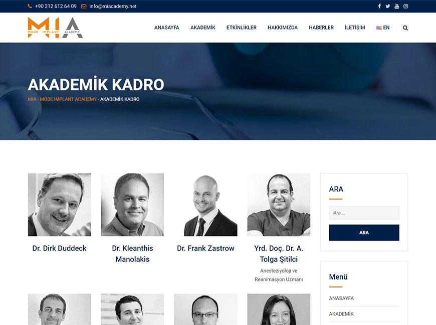 Mode İmplant Academy Web Tasarım