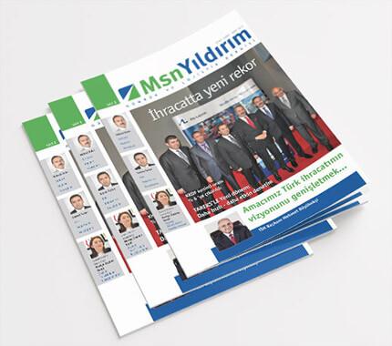 Msn Yıldırım Kurumsal Dergi Tasarımı Sayı: 2