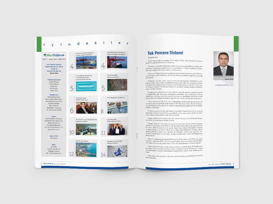 Msn Yıldırım Kurumsal Dergi Tasarımı Sayı: 3