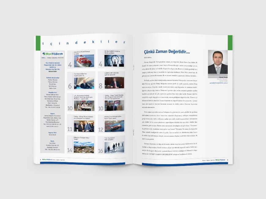 Msn Yıldırım Kurumsal Dergi Tasarımı Sayı: 4