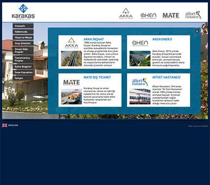 Karakaş Group Web Site Tasarımı