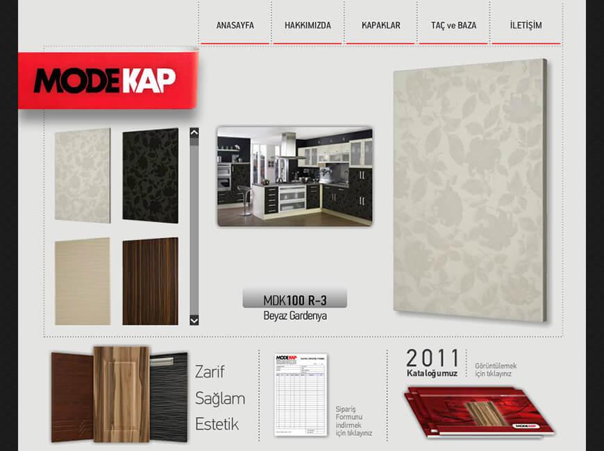 Modekap Kapak Web Site Tasarımı
