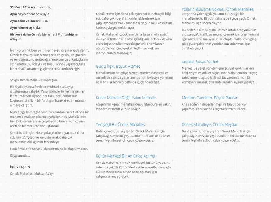 İdris Taşkın Web Site Tasarımı