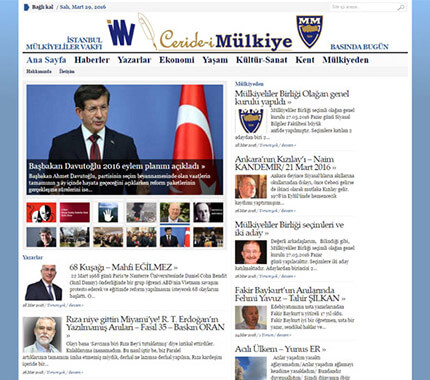 Ceride-i Mülkiye Web Site Tasarımı