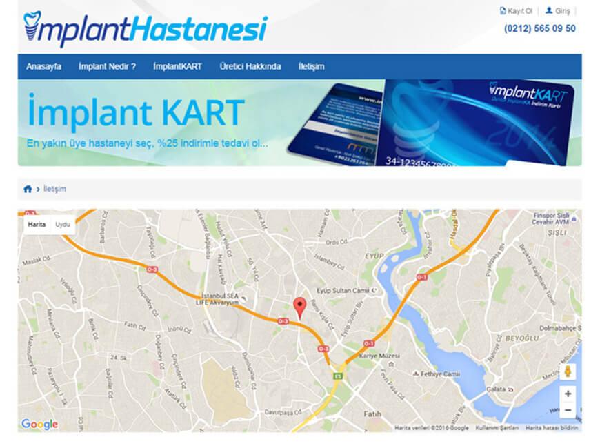 İmplant Hastanesi Web Site Tasarımı