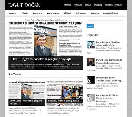 Davut Doğan Web Site Tasarımı