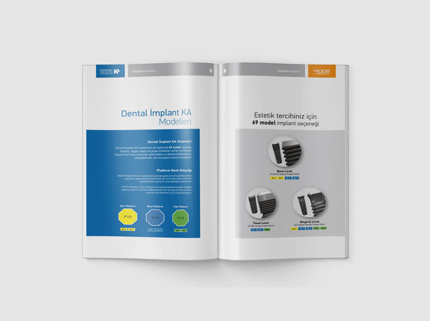 Dental İmplant Ka Katalog Tasarımı