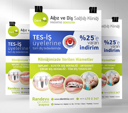 DentTria Diş Kliniği Afiş Tasarımı