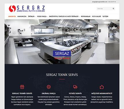 Sergaz Teknik Servis Web Site Tasarımı