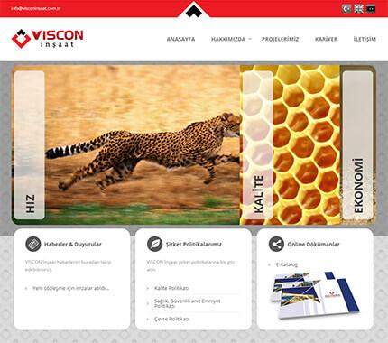 Viscon İnşaat Web Site Tasarımı