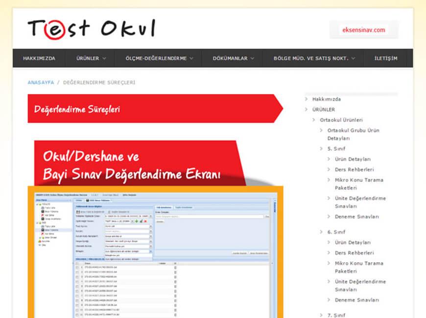 Test Okul Web Site Tasarımı