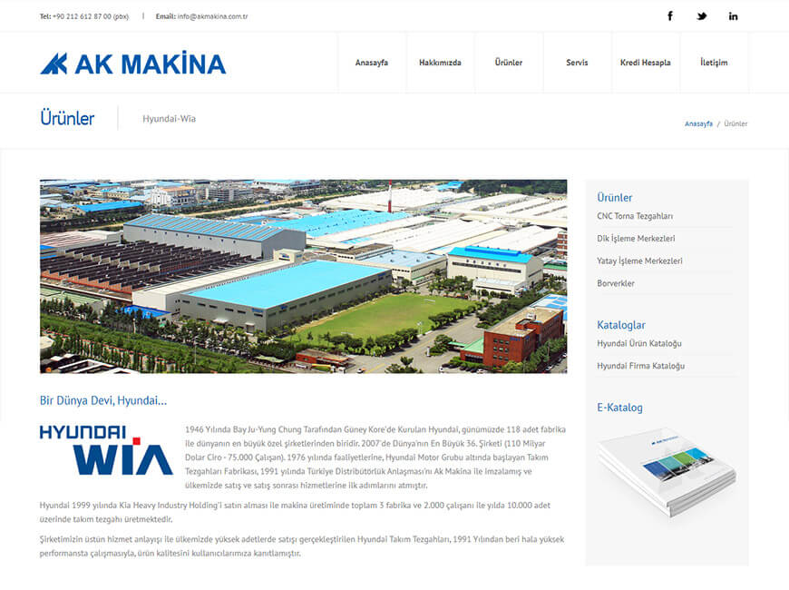 Ak Makina Web Site Tasarımı