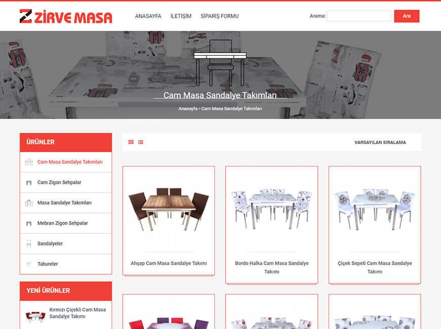 Zirve Masa Web Site Tasarımı