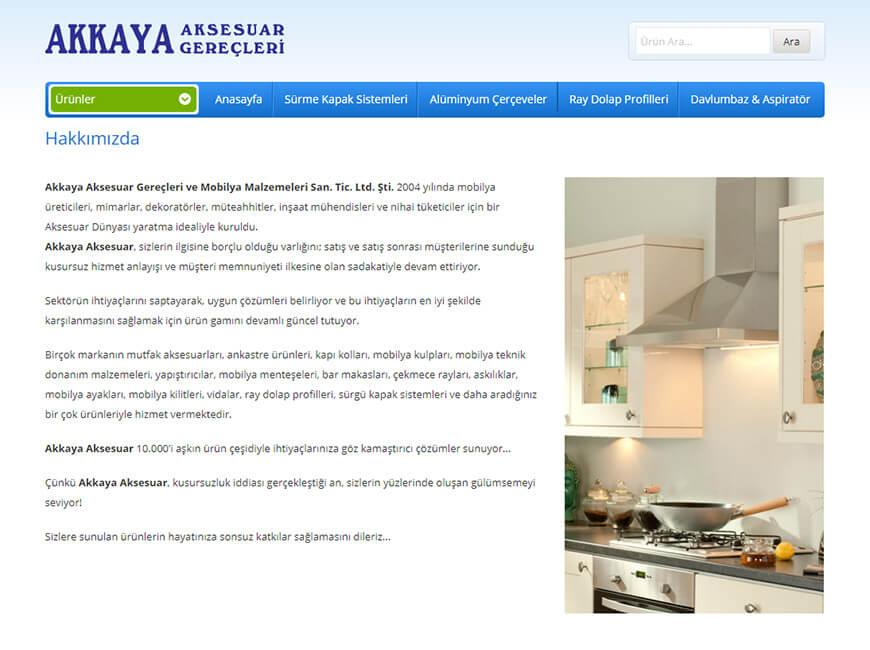 Akkaya Aksesuar Web Site Tasarımı
