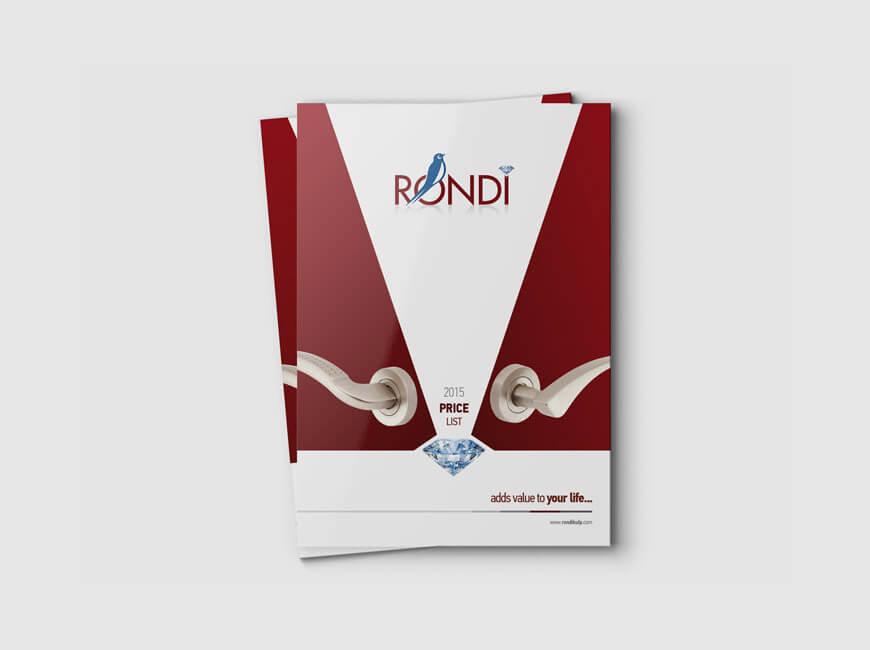 Rondi Kol Katalog Tasarımı