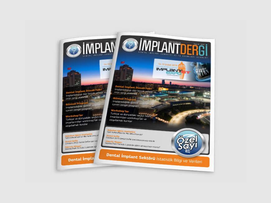 İmplantder Dergi Tasarımı Sayı: 4