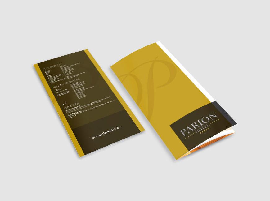 Parion Hotel Broşür Tasarımı