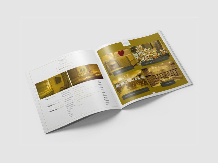 Parion Hotel Katalog Tasarımı