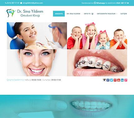 Dr. Sina Yıldırım Web Site Tasarımı
