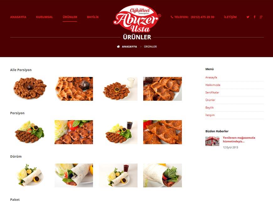 Çiğköfteci Abuzer Usta Web Site Tasarımı