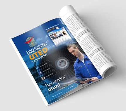 UTED Dergi İlan Tasarımı