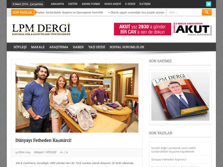 LPM Dergi Web Site Tasarımı