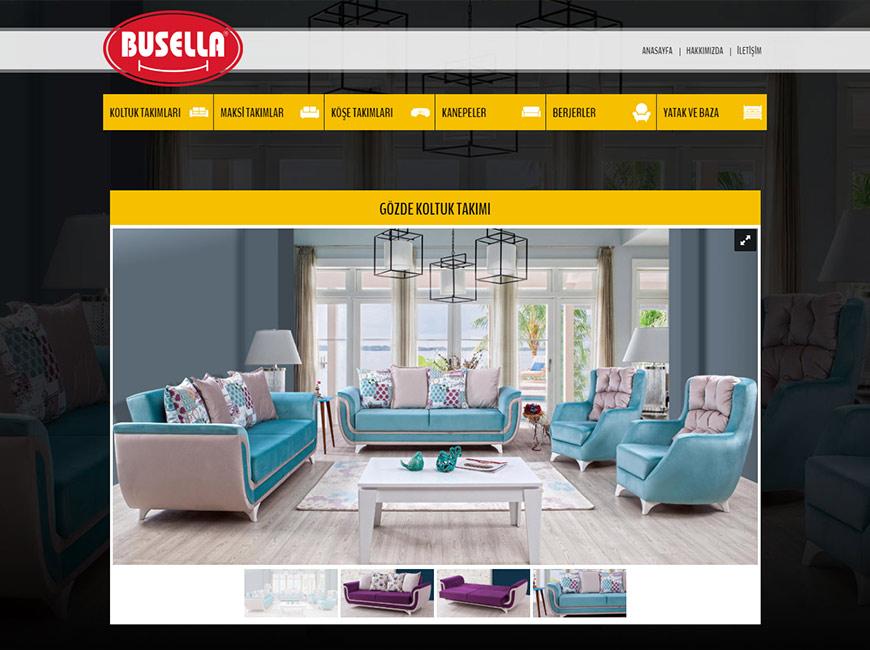 Busella Mobilya Web Site Tasarımı