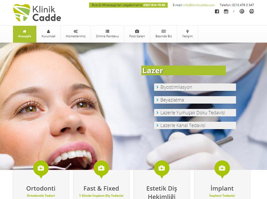 Web Tasarım - Klinik Cadde