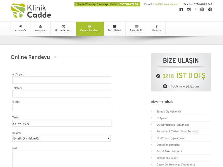 Klinik Cadde Web Site Tasarımı