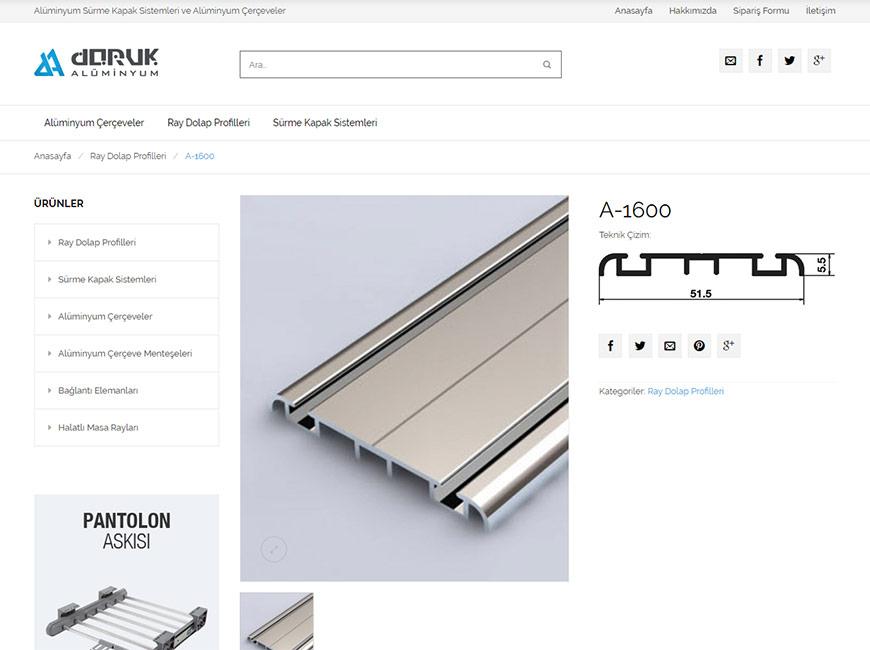 Doruk Alüminyum Web Site Tasarımı