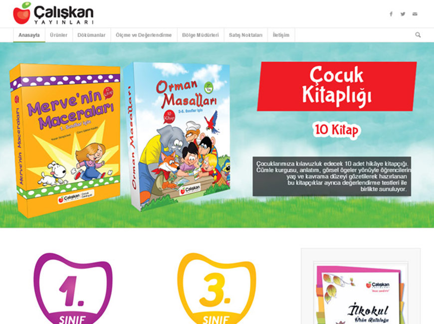 Çalışkan Yayınları Web Site Tasarımı