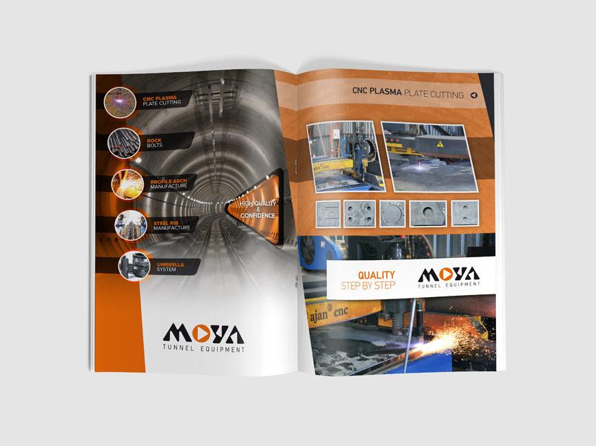 Moya Tünel Ekipmanları Broşür Tasarımı