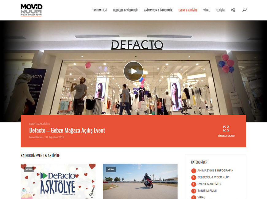 Movidroom Web Site Tasarımı