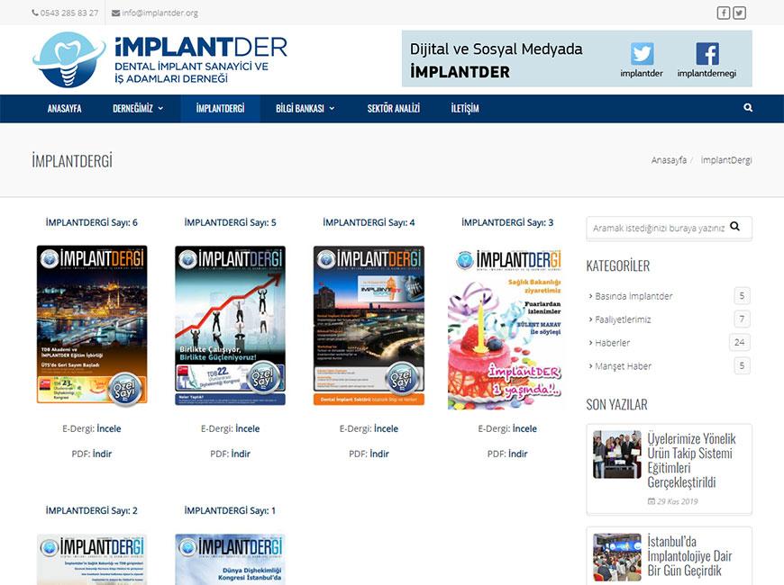 İmplantder Web Site Tasarımı