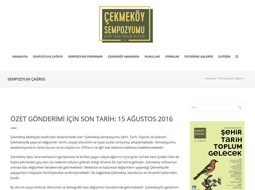 Çekmeköy Sempozyumu Web Site Tasarımı