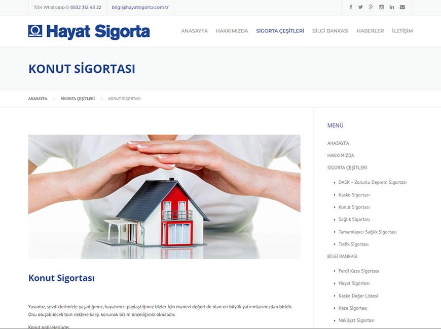 Hayat Sigorta Web Site Tasarımı