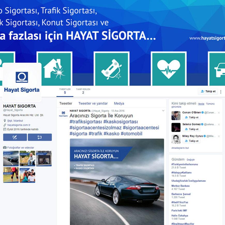 Hayat Sigorta Sosyal Medya Tasarımı