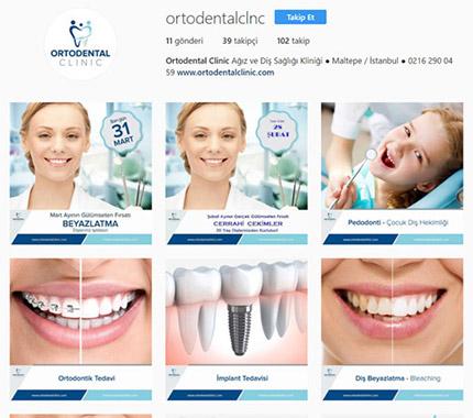 Ortodental Clinic Sosyal Medya Tasarımı