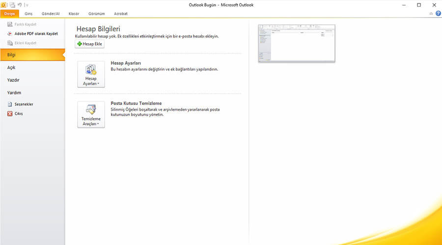 Yandex Mail Outlook 2010 Kurulumu