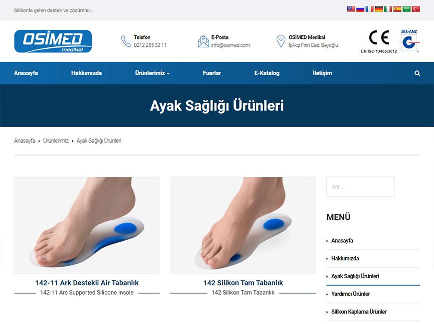 Osimed Medikal Web Site Tasarımı