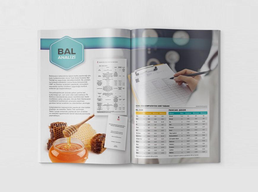 Ballı Baklava Katalog Tasarımı