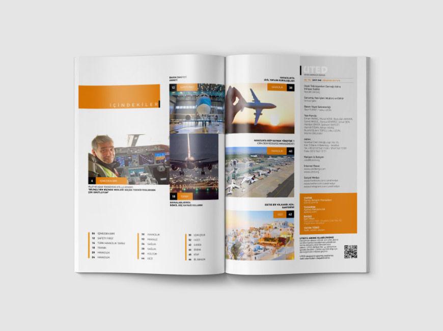 Kurumsal Dergi Tasarımı - UTED Dergi
