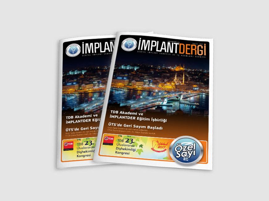 İmplantder Dergi Tasarımı Sayı: 6