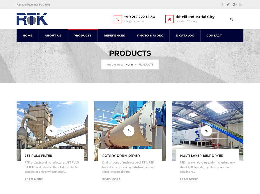 RTK Engineering Web Site Tasarımı