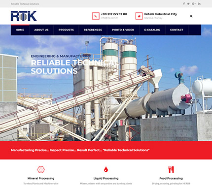 RTK Engineering Web Site Tasarımı