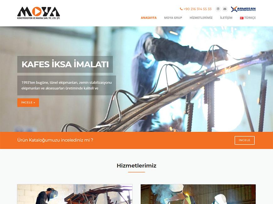 Moya Grup Web Site Tasarımı