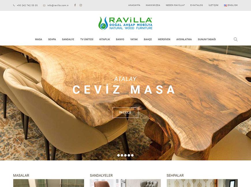 Ravilla Mobilya Web Site Tasarımı