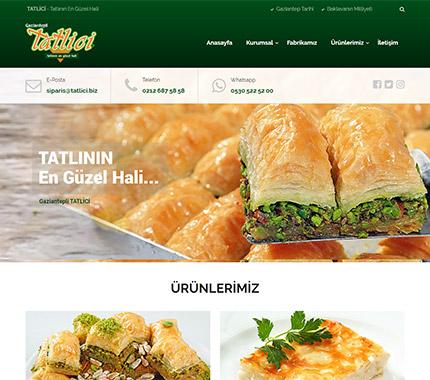 Tatlici Tatlı Web Site Tasarımı