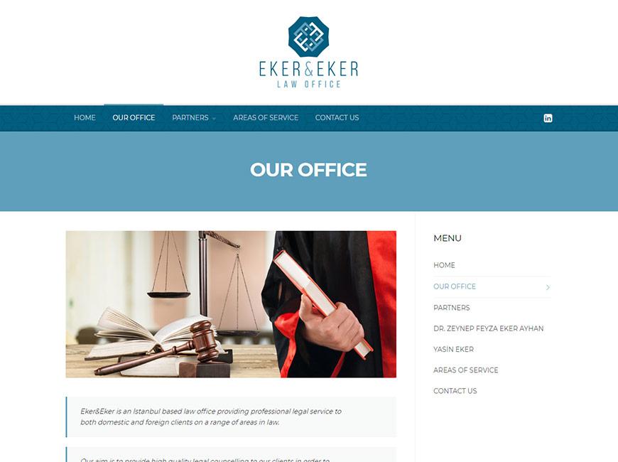 Eker & Eker Hukuk Web Site Tasarımı