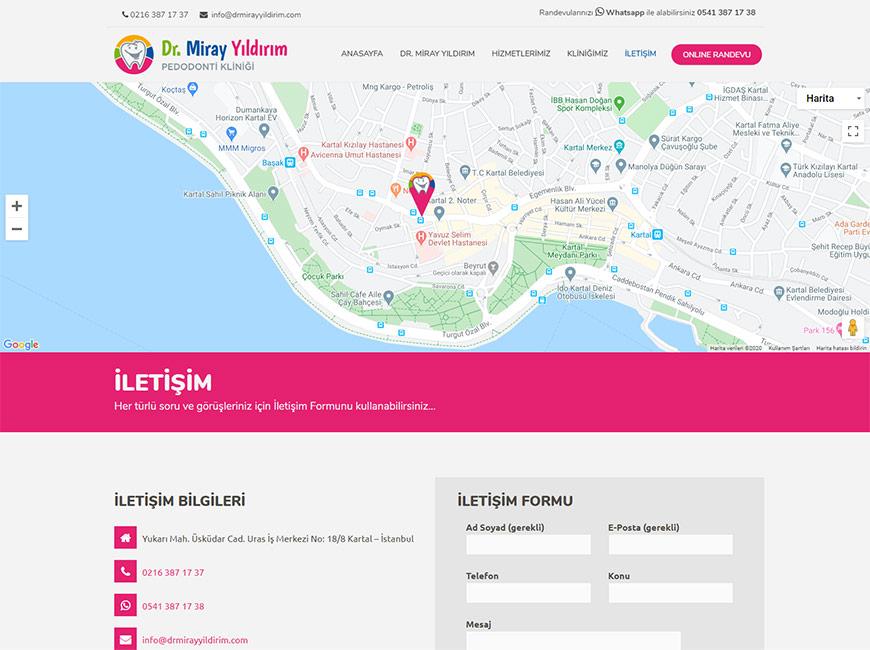 Dr. Miray Yıldırım Web Site Tasarımı